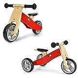 COSTWAY 2in1 Kinder Laufrad Dreirad/Slip Modus Holz Fahrrad, Kinderlaufrad Lauflernrad, Balance Bike ohne Pedal für Kinder von 18-36 Monate