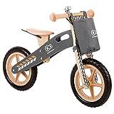 kk Kinderkraft Laufrad RUNNER Lernlaufrad Kinderlaufrad aus Holz Lauflernrad für Kinder Kinderrad, Nature
