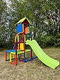 move and stic Toni Spielturm / Spielhaus Kletterturm mit Rutsche für Kleinkinder für Kinderzimmer oder Spielzimmer genauso geeignet wie im Garten*