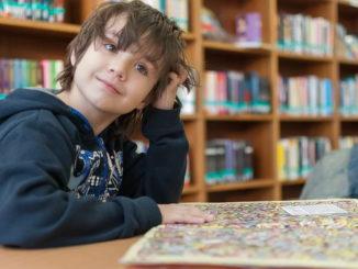 Besuch in der Bibliothek/Bücherei